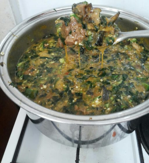 Okra Ugu And Ogbono Soup Recipe All Vegetable Soup Recipes